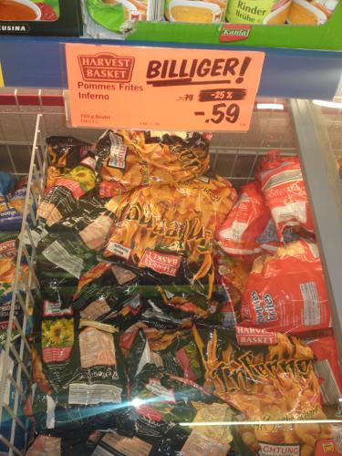 Lidl Inferno Pommes 1Kg Reduziert von 0,79€ auf 0,59€