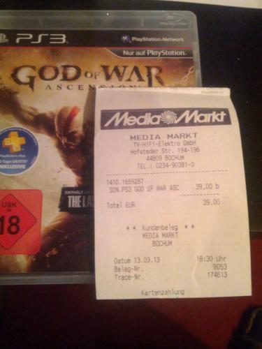 (Lokal MM-Bochum-Hofstede) God of War Ascension PS3