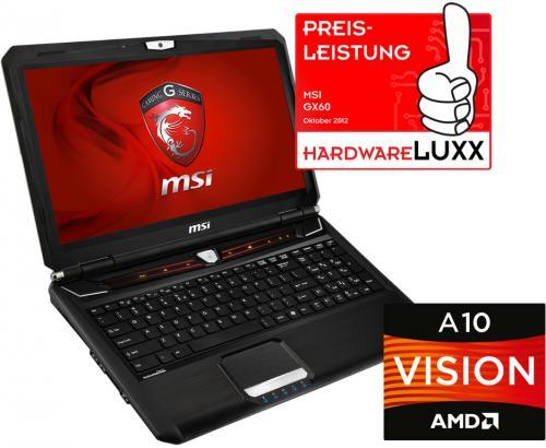 "15"" Gaming Notebook MSI GX60-A10797287B mit 16% Ersparnis"