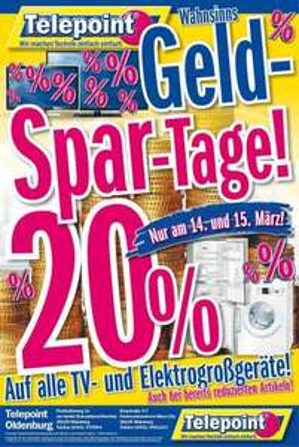 Telepoint Oldenburg & Bramsche - Geld-Spar-Tage-20%