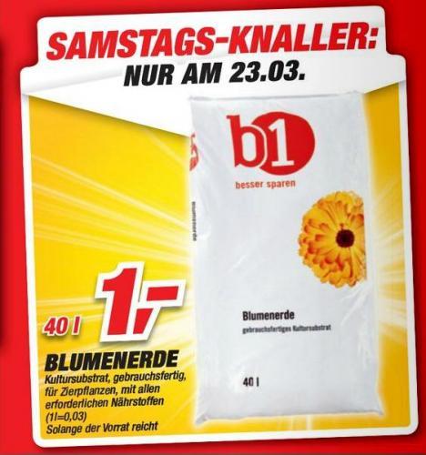 [Toom Baumarkt] 40l Blumenerde Samstags-Knaller nur am 23.03.