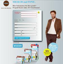 Milram & Fonic Aktion - Prepaid-Karte inkl. 10,-€ Startguthaben