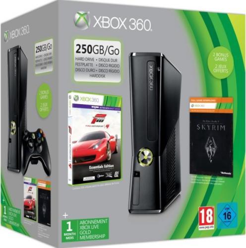 Xbox 360 250 GB + 2 Conroller + FIFA 2013 + Tekken 6 + Forza Motor 4 + The Elder Scrolls V + 2 J. Garantie