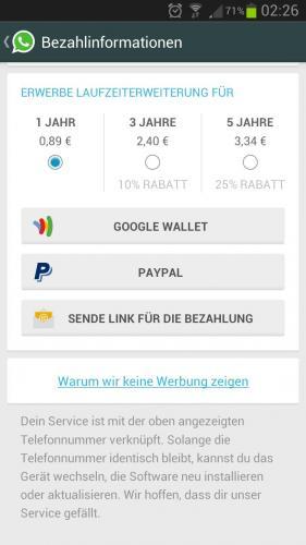 What's App Android bis zu 25% Rabatt