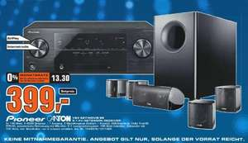 [Saturn Braunschweig] Pioneer VSX 527 / Canton Movie 85 Set für 399,-€