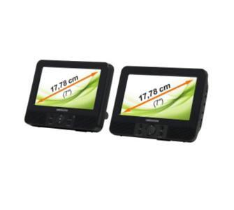 "Medion MD 83598 17,78 cm (7"") Tragbarer Twin DVD-Player"