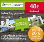 Wieder verfügbar! 48€ Cashback + 20€ Amazon-Gutschein für asstel Privathaftplichtversicherung