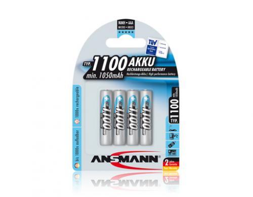 4x Ansmann Akku NiMH Micro AAA 1100 mAh 9,89€ vk-frei