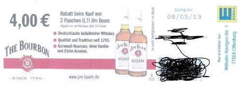 Lokal: 2 Flaschen Jim Beam für 15,98 € im E-Center Offenburg