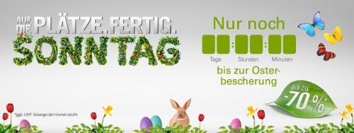 Osterbescherung morgen (Sonntag) bei ebay (bis zu 70%)