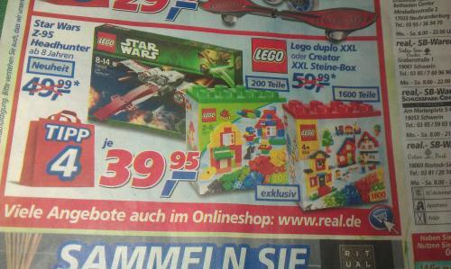 Lego Creator Box 5512 mit 1600 Steinen für 39,95 bei Real offline (Lokal Rostock Sievershagen?)