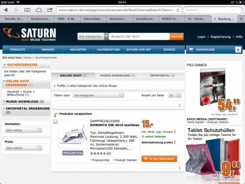 Rowenta DW 4010 Bügeleisen für 15,00. €