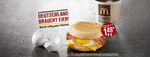 Mc Muffin Bacon & Egg + Kleiner Kaffee für 1,49 Euro @ Mc Donalds