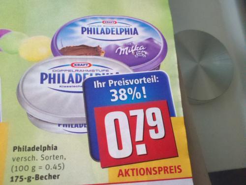 (REWE)Philadelphia versch.Sorten nur 0,79€