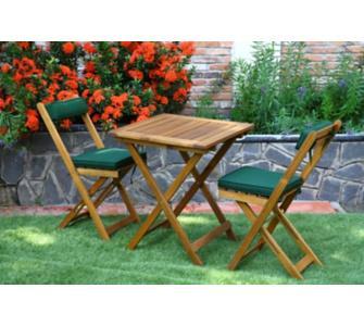 """ganz nettes Balkonset """"Kreta"""", Tisch + 2 Stühle + Auflagen für den kleinen Balkon und kleinen Geldbeutel bei Plus, mit Gutscheincode, inkl. Lieferung"""
