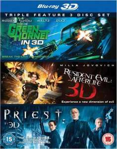 The Green Hornet 3D / Priest 3D / Resident Evil: Afterlife 3D [Blu-ray] (OT)