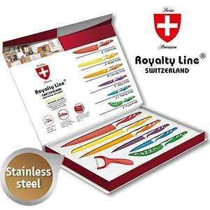 Farbiges Messerset aus rostfreiem Stahl von Royalty Line Switzerland 25,90 inkl. Porto