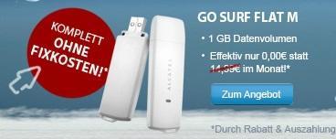 o2 Go Surflat M 1GB + One Touch X300D für o2 Bestandskunden @Logitel