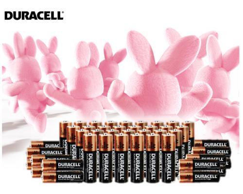 Wenn es Duracell sein muss: 48 Batterien (AA oder AAA mischbar)