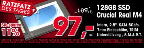 Ratzfatz des Tages Crucial M4 128GB