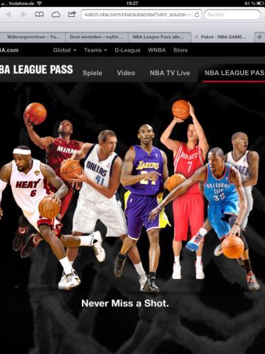 NBA League Pass alle restlichen Spiele mit Playoffs für ca 23€