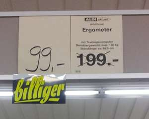 [LOKAL Chemnitz] Ergometer Sportsline E 12.9 @Aldi Zentrum