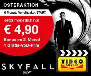 videobuster.de Osteraktion - 6 Monate leihen für nur 4,90€/Monat + einen VoD-Film gratis