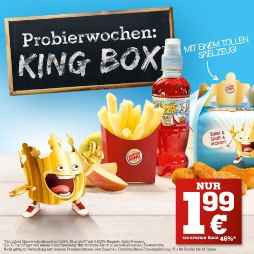 [Burger King]King Box im Probierpreis für 1,99€