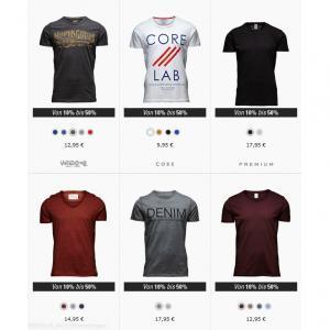 Bis zu 50% Rabatt auf T-Shirts von Jack and Jones