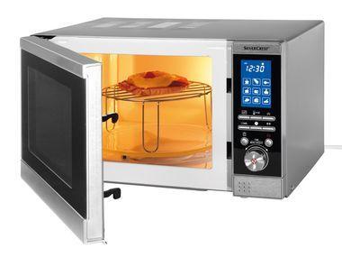 SILVERCREST 800 Watt Mikrowelle mit 1.000 Watt Grill für nur 59,85 EUR [Ausstellungsstück]