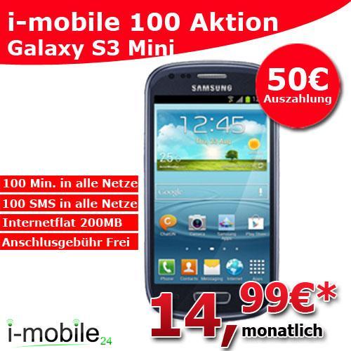 Samsung Galaxy S3 Mini + 50€ Auszahlung