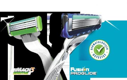 Gratis einen von 210 neuen Gilette MACH3 und ProGlide Silvertouch 210 Sensitive testen!