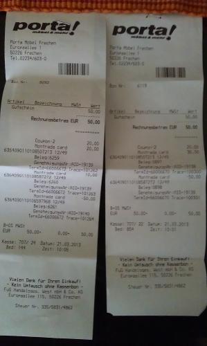 [evtl. LOKAL 50226] PORTA: Kaufe 50€ Geschenkkarte, bezahle 30€ (40% RABATT) *Kauf einer Geschenkkarte mit Geschenkkarte möglich!!!!!!!*