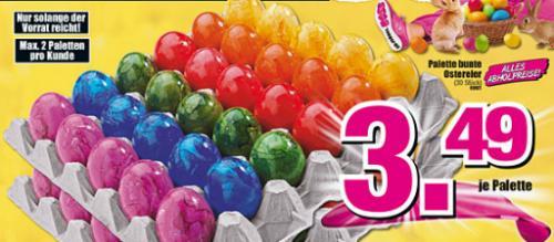 Eine ganze Palette bunte Osteier bei Möbel-Boss [30 Eier!]