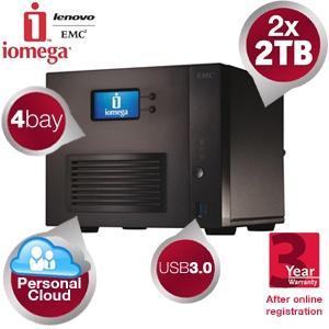 Iomega StorCenter ™ ix4-300d 4-bay NAS mit 2x 2TB