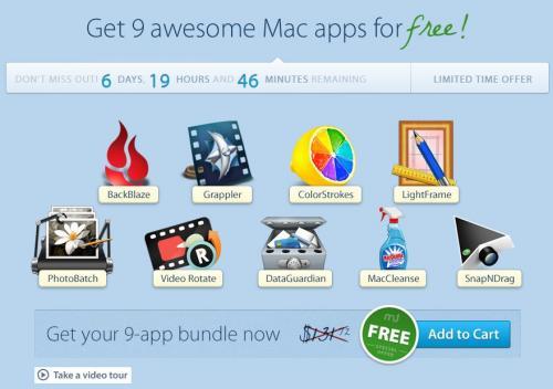 MacUpdate Free Bundle mit 9 kostenlosen Apps für den Mac im Wert von ca. 100 Euro