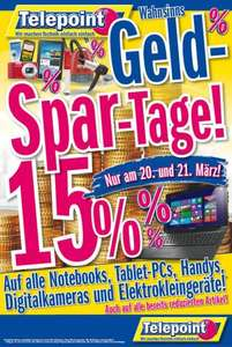 Geld-Spar-Tage 15% bei Telepoint