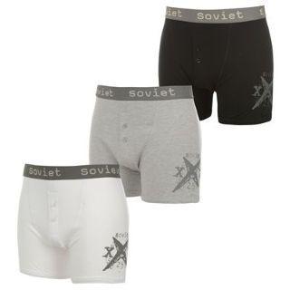 (UK) 3er Pack Boxershorts grau/weiß/schwarz