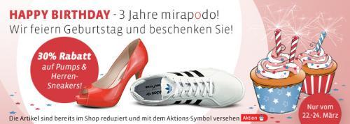 mirapodo 30% auf Pumps & Herren-Sneaker
