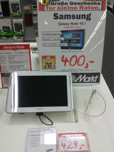 Galaxy Note 10.1 WiFi 400,-€ @MM Bischofsheim Offline (Lokal?)
