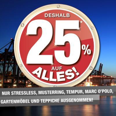 [Möbel Schulenburg] Aktuell: 25% Rabatt; Dauerbrenner: Bestpreisgarantie (inkl. 10% Rabatt) [lokal HH]