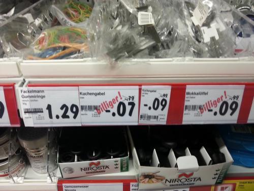 [lokal Rostock?] Kuchengabeln und Mokkalöffel für 7/9 Cent @ Kaufland
