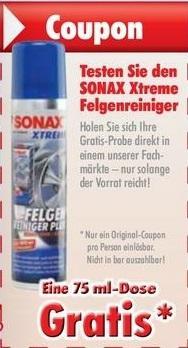 Sonax Xtreme Felgenreiniger 75ml Gratis @AutoPlus