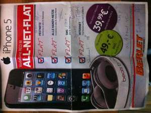 iPhone 5 & Neuvertrag Vodafone RED M