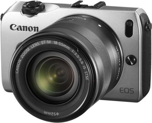 Canon EOS M silber mit Objektiv EF-M 18-55mm 3.5-5.6 IS STM