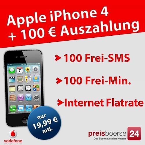Iphone 4 8GB mit Vodafone Basic 100 Spezial - H5 für 380 Euro