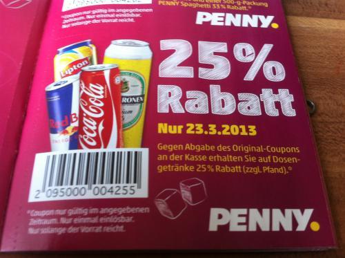 [Offline] Nur heute! Lipton Ice Tea Sparkling für ~ 0,37 € (25% Rabatt auf ALLE Dosen) mit Gutschein bei PENNY