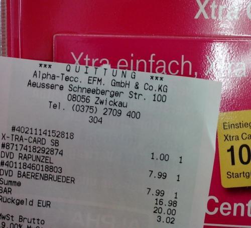 [lokal] Alpha-Tecc Zwickau Xtra Card 1€ mit 10€ Startguthaben