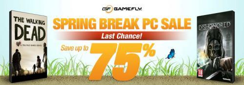 ACHTUNG: Alle Angebote des Gamefly Spring Break PC Sale wieder verfügbar! Anno 2070 / Torchlight II / The Walking Dead / Hitman Absolution etc. + 10% GS