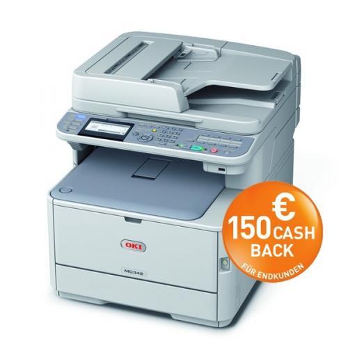 Mal wieder OKI Cash Back z.B. MC332dn (Farblaser-Multi)  für 170 €